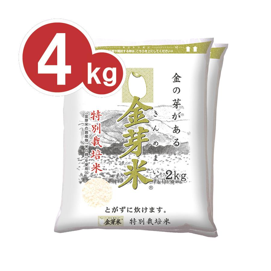 ■定期お届け便■ 金芽米 長野県産コシヒカリ ≪特別栽培米≫ 4kg(2kg×2袋)【送料込】