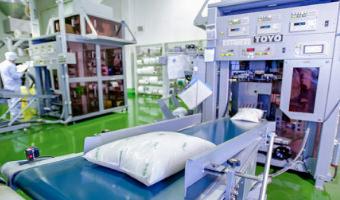金芽米の生産過程と精米工場