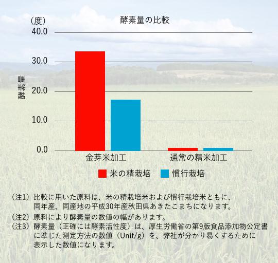酵素量の比較
